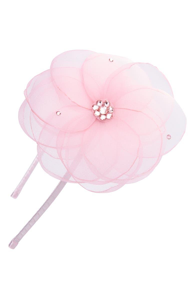 BARI LYNN Sheer Flower Headband, Main, color, 650