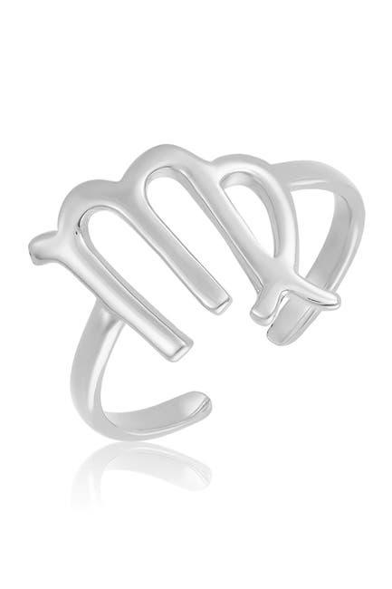 Image of Sterling Forever Sterling Silver Adjustable Zodiac Ring - Virgo