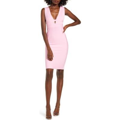 Tiger Mist Alix Sleeveless Bandage Dress, Pink