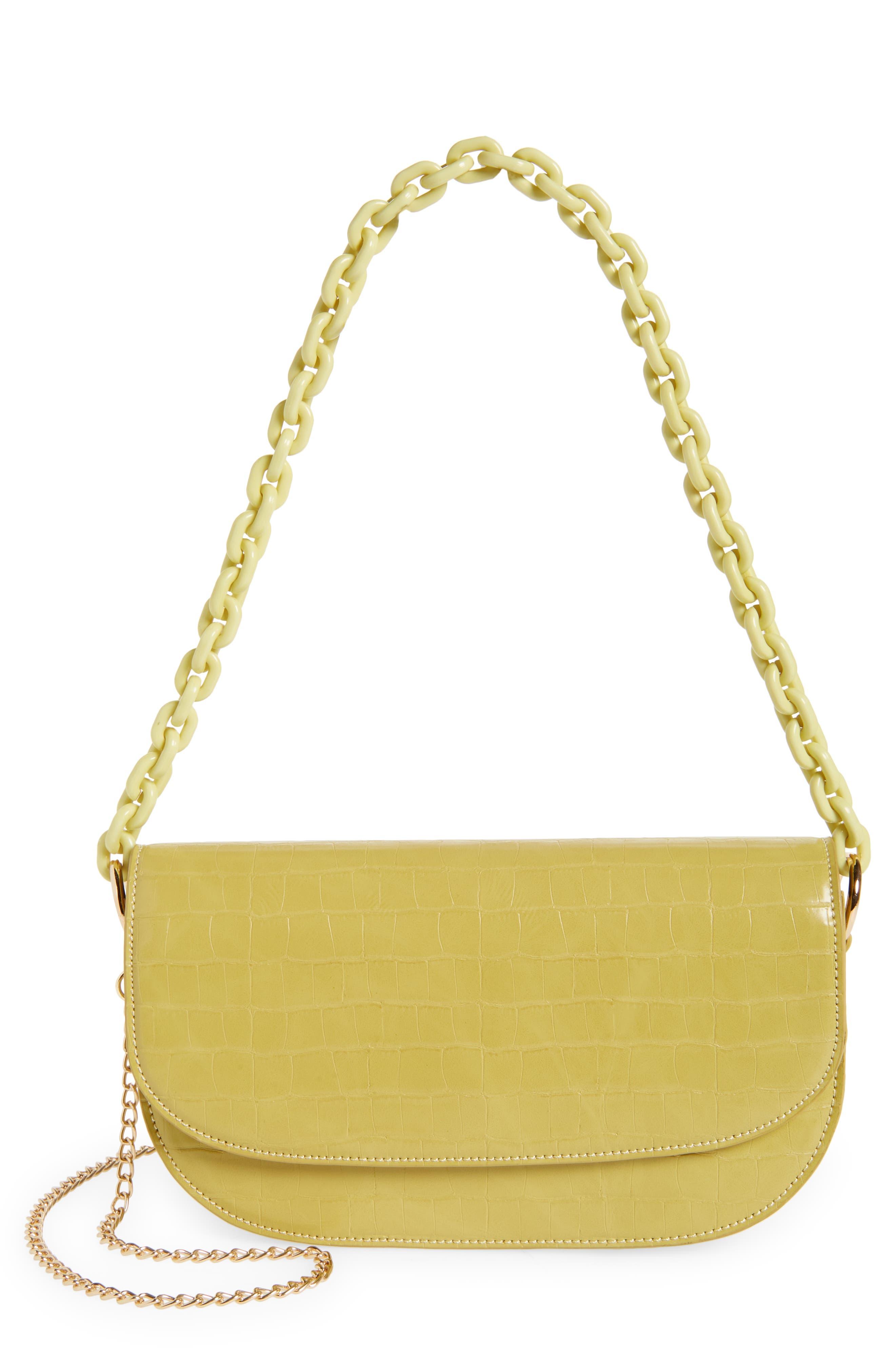 Amy Faux Leather Baguette Crossbody Bag