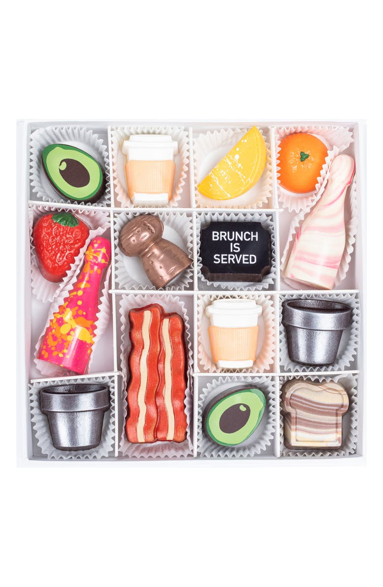 MAGGIE LOUISE CONFECTIONS Brunch Goals 16-Piece Chocolates, Main, color, WHITE