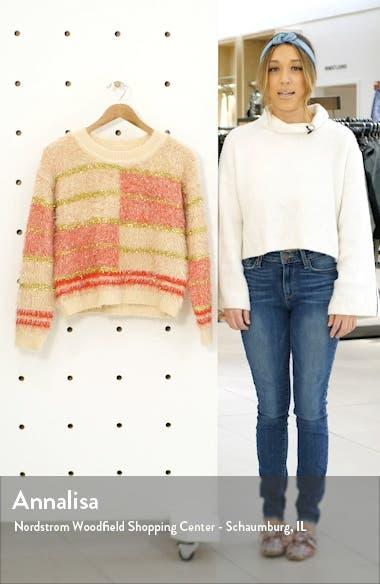 Odessa Metallic Eyelash Chenille Sweater, sales video thumbnail