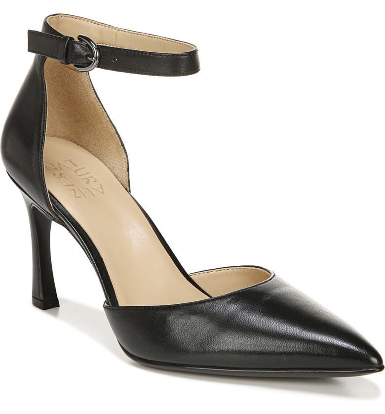 NATURALIZER Aurelia Ankle Strap Pump, Main, color, BLACK LEATHER