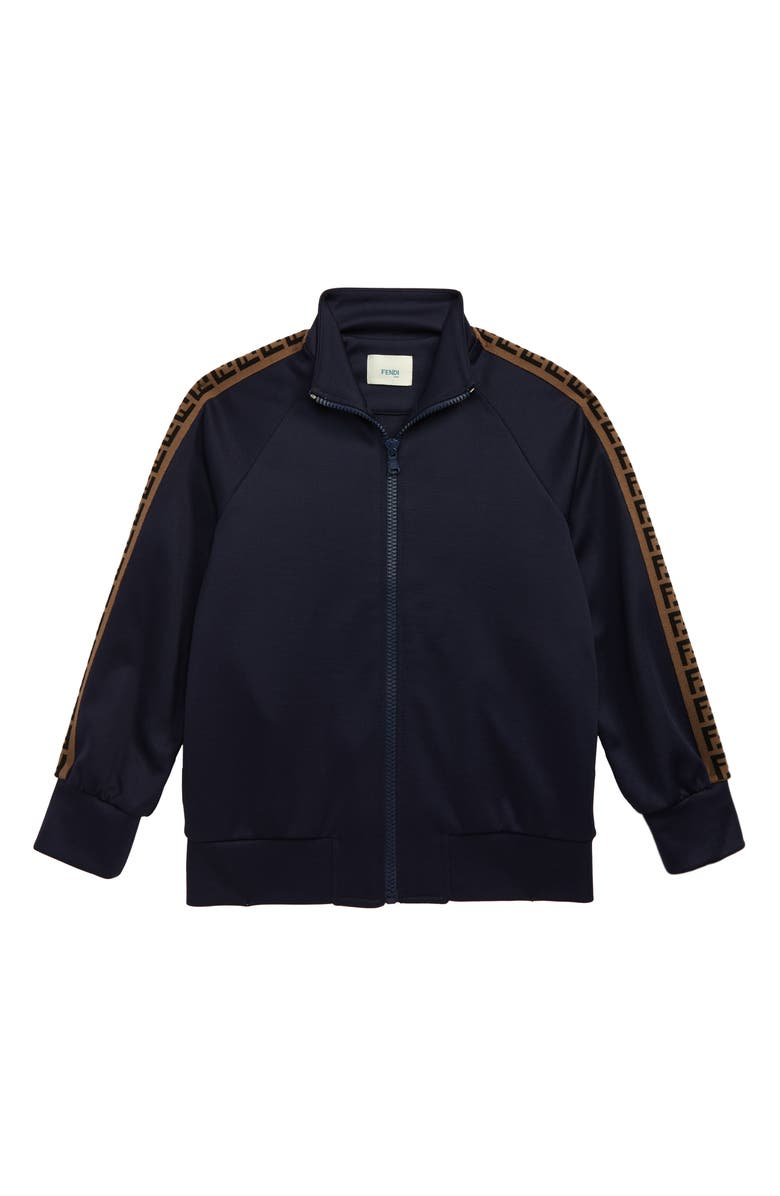 FENDI Double-F Logo Track Jacket, Main, color, NAVY