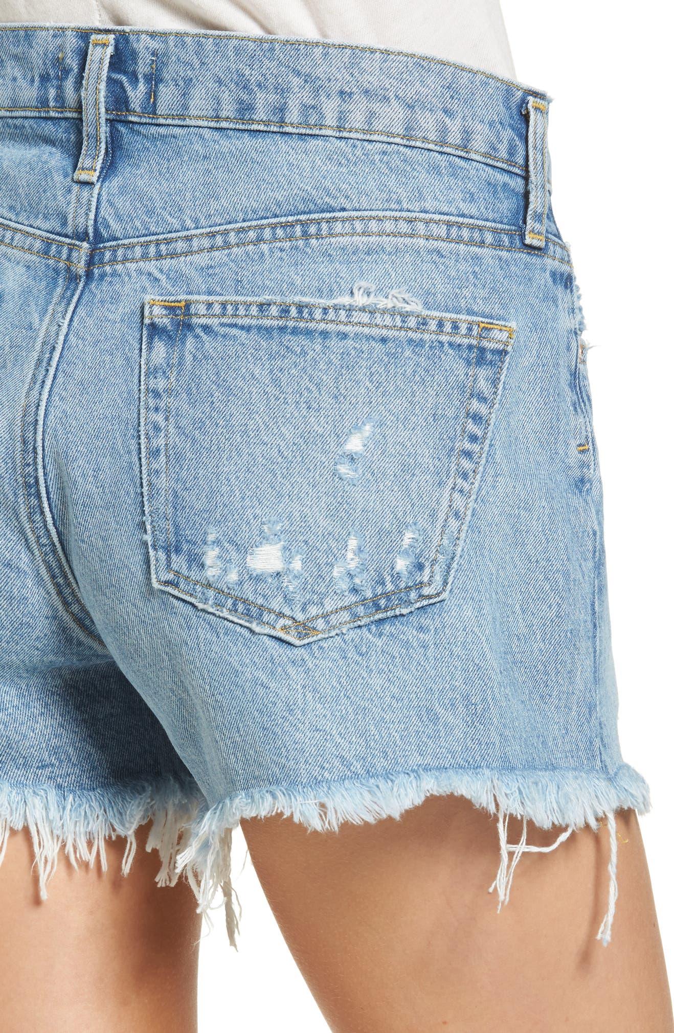 1bd85252d3 AGOLDE Parker Distressed Denim Shorts (Swapmeet) | Nordstrom