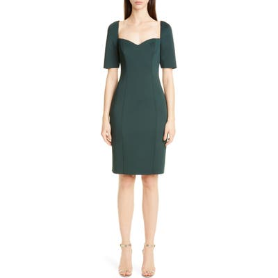 Badgley Mischka Scuba Cocktail Dress, Green