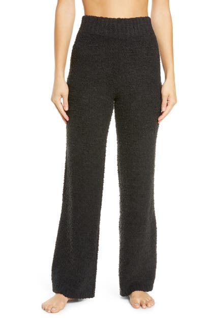 Skims Cozy Knit Pants In Onyx