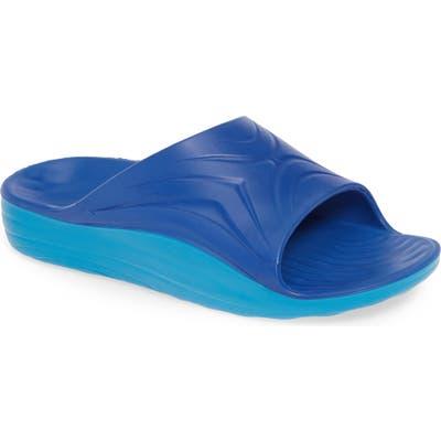 Superfeet Worldwide Aftersport Slide Sandal, Blue