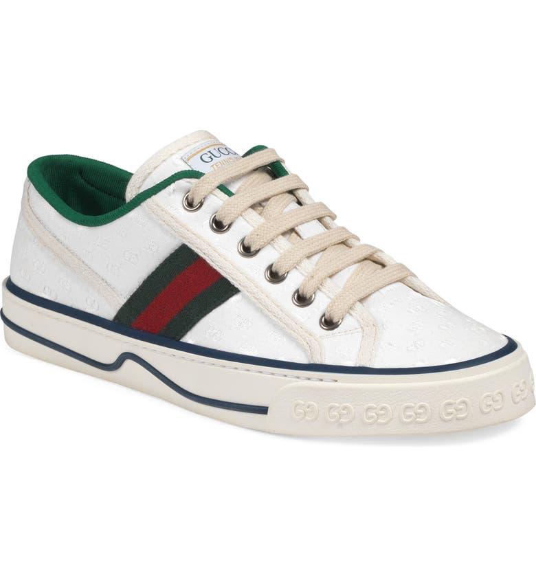 GUCCI Tennis 1977 Platform Sneaker, Main, color, WHITE