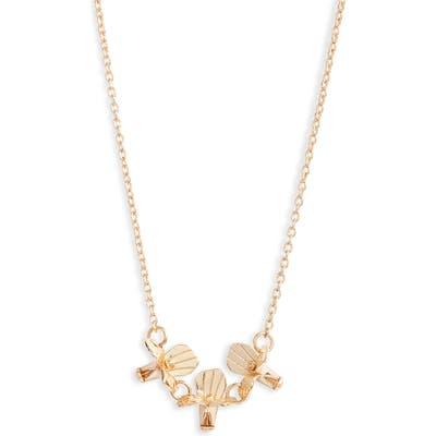 Lele Sadoughi Triple Flower Necklace