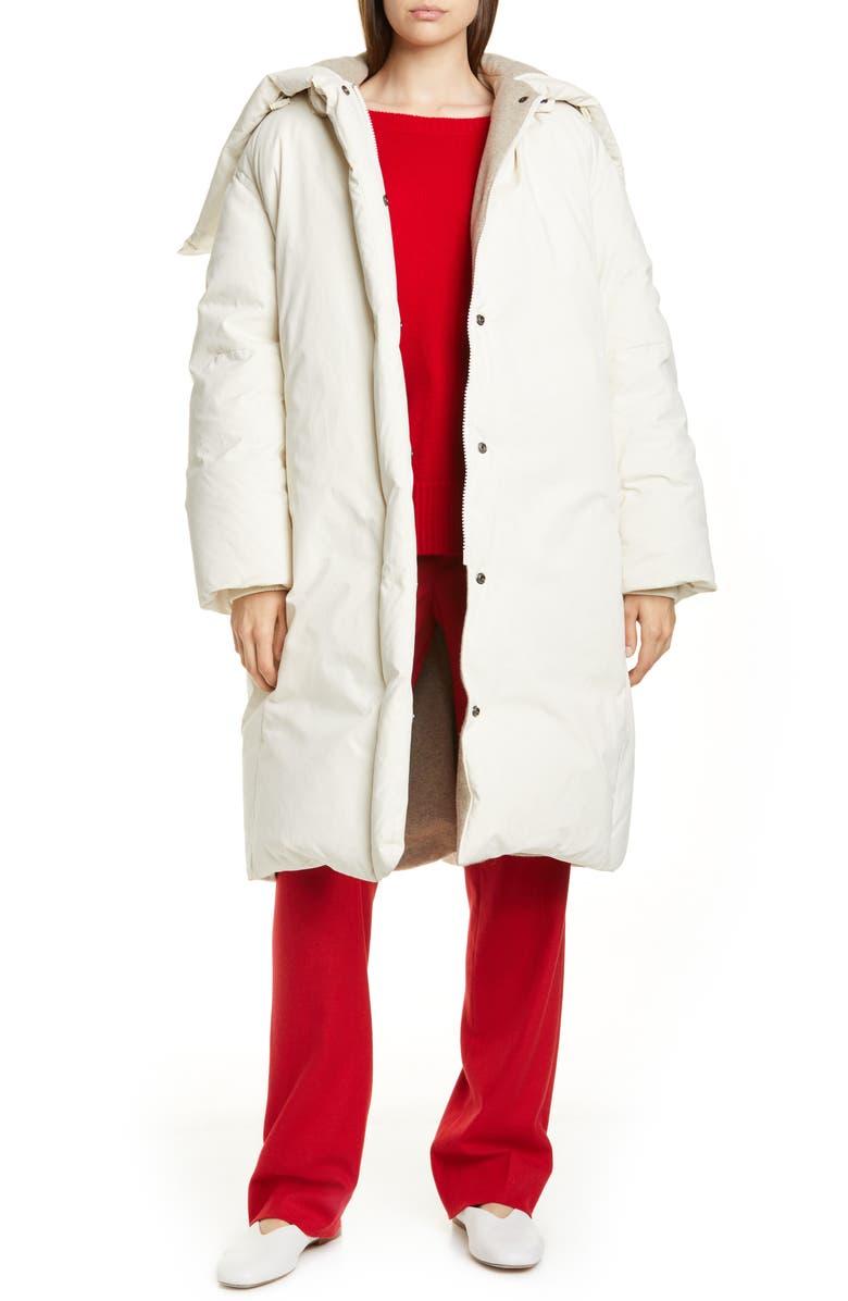 VINCE Longline Puffer Coat, Main, color, LIGHT FAWN