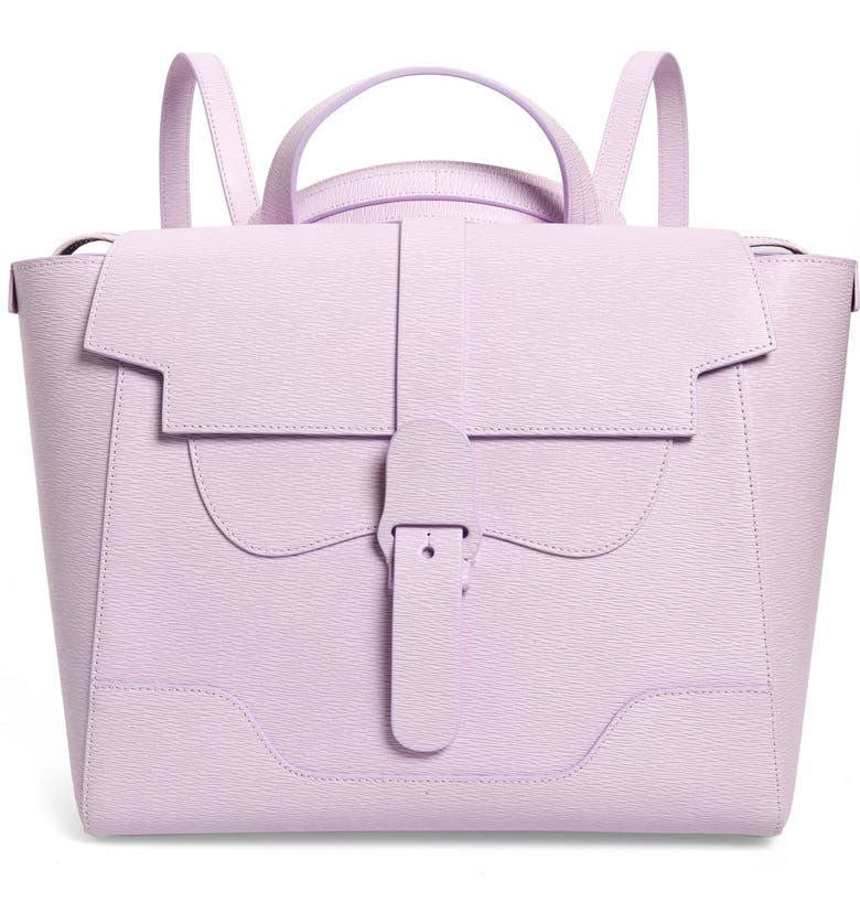 SENREVE Maestra Textured Leather Satchel, Main, color, WISTERIA