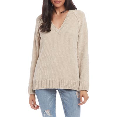 Karen Kane Chenille Sweater, Ivory