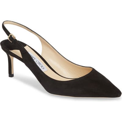 Jimmy Choo Erin Pointy Toe Slingback Pump - Black