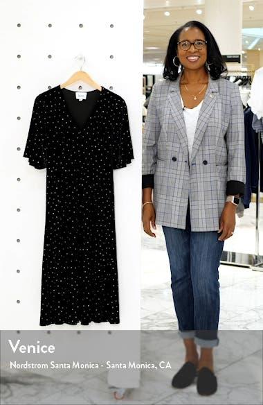 Gold Dot Velvet A-Line Dress, sales video thumbnail