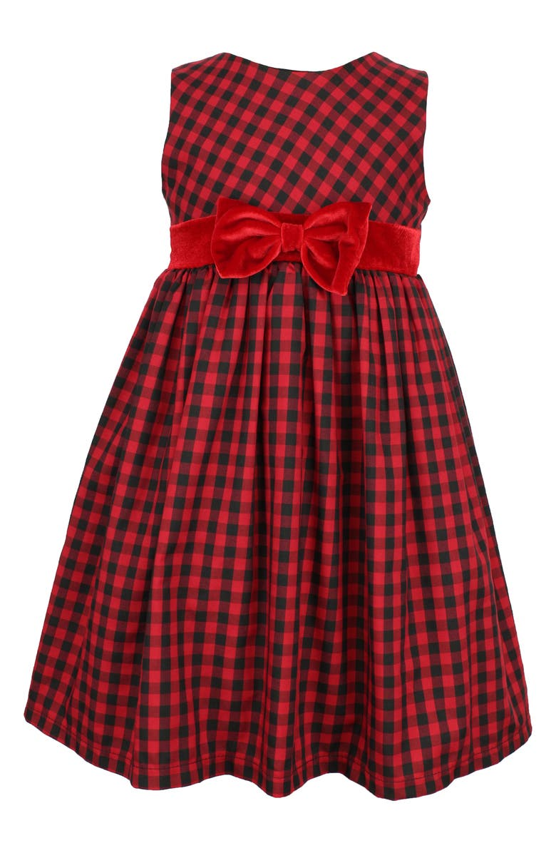 POPATU Check Sleeveless Dress, Main, color, RED