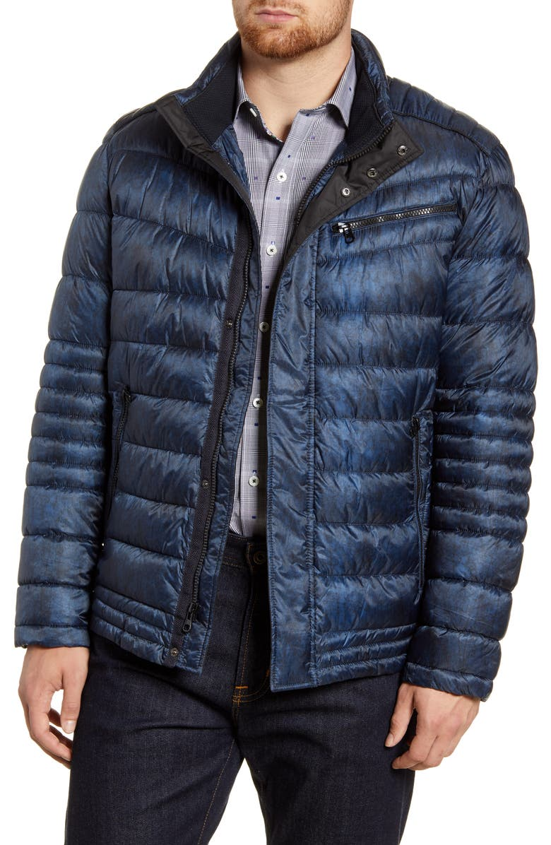 BUGATCHI Puffer Jacket, Main, color, NIGHT BLUE