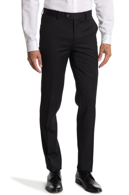 Image of Zanetti Slim Fit Flat Front Pants