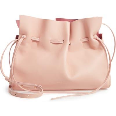 Mansur Gavriel Lambskin Leather Drawstring Bag - Pink
