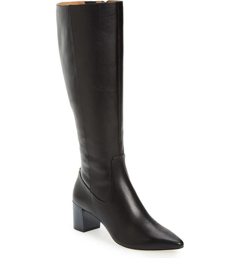 CALVIN KLEIN Nolina Tall Boot, Main, color, 001