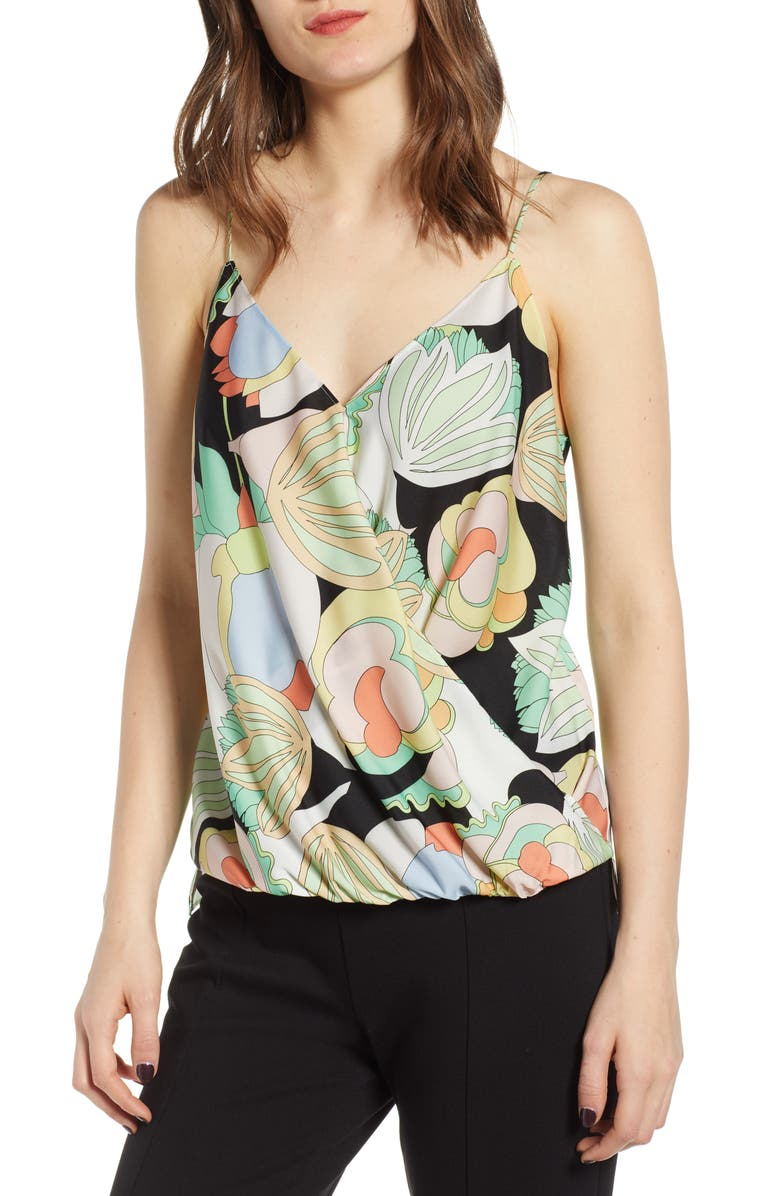 BAILEY 44 Bailey44 Tune In Floral Sleeveless Top, Main, color, BLACK MULTI
