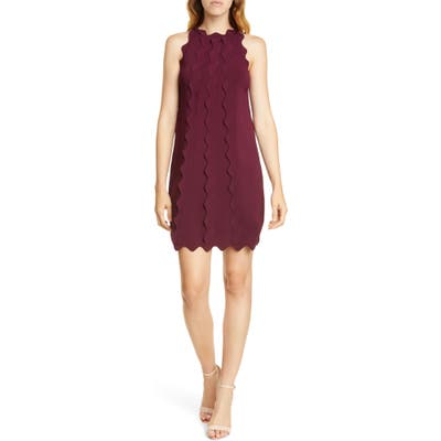 Ted Baker London Rickrack Trim Knit Shift Dress, Red