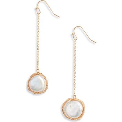 Ten79La Genuine Pearl Drop Earrings