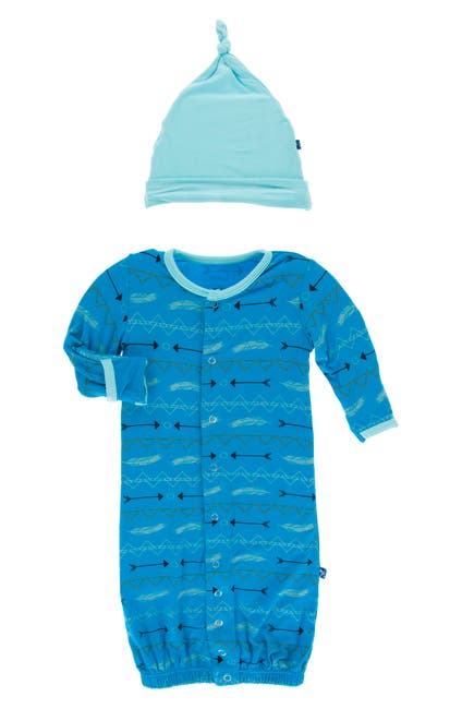 Image of KicKee Pants Layette Gown & Hat Set