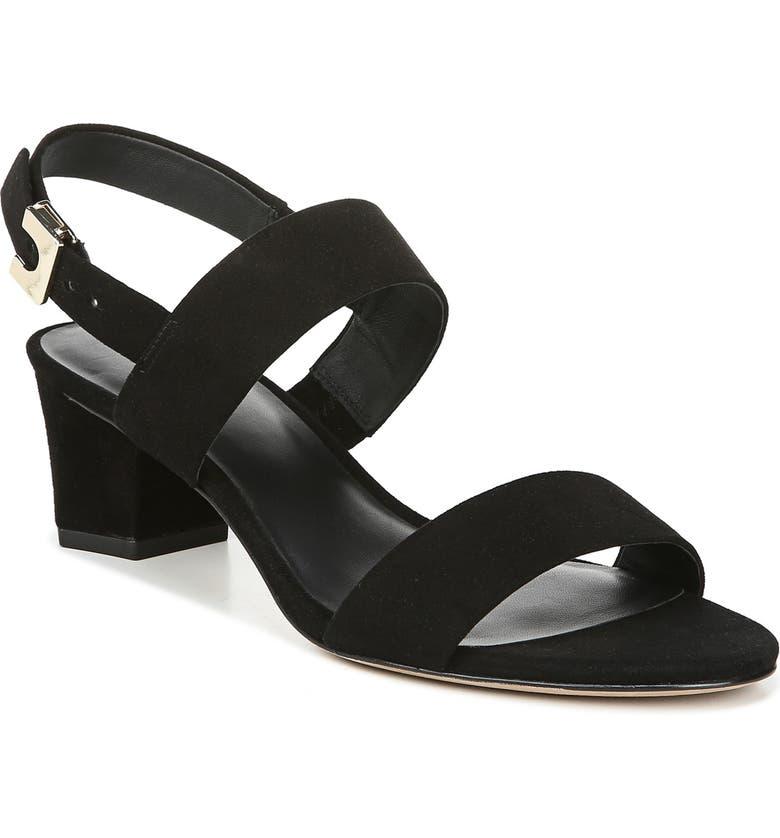 DIANE VON FURSTENBERG Link Slingback Sandal, Main, color, BLACK