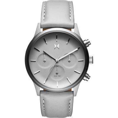 Mvmt Duet Chronograph Leather Strap Watch,