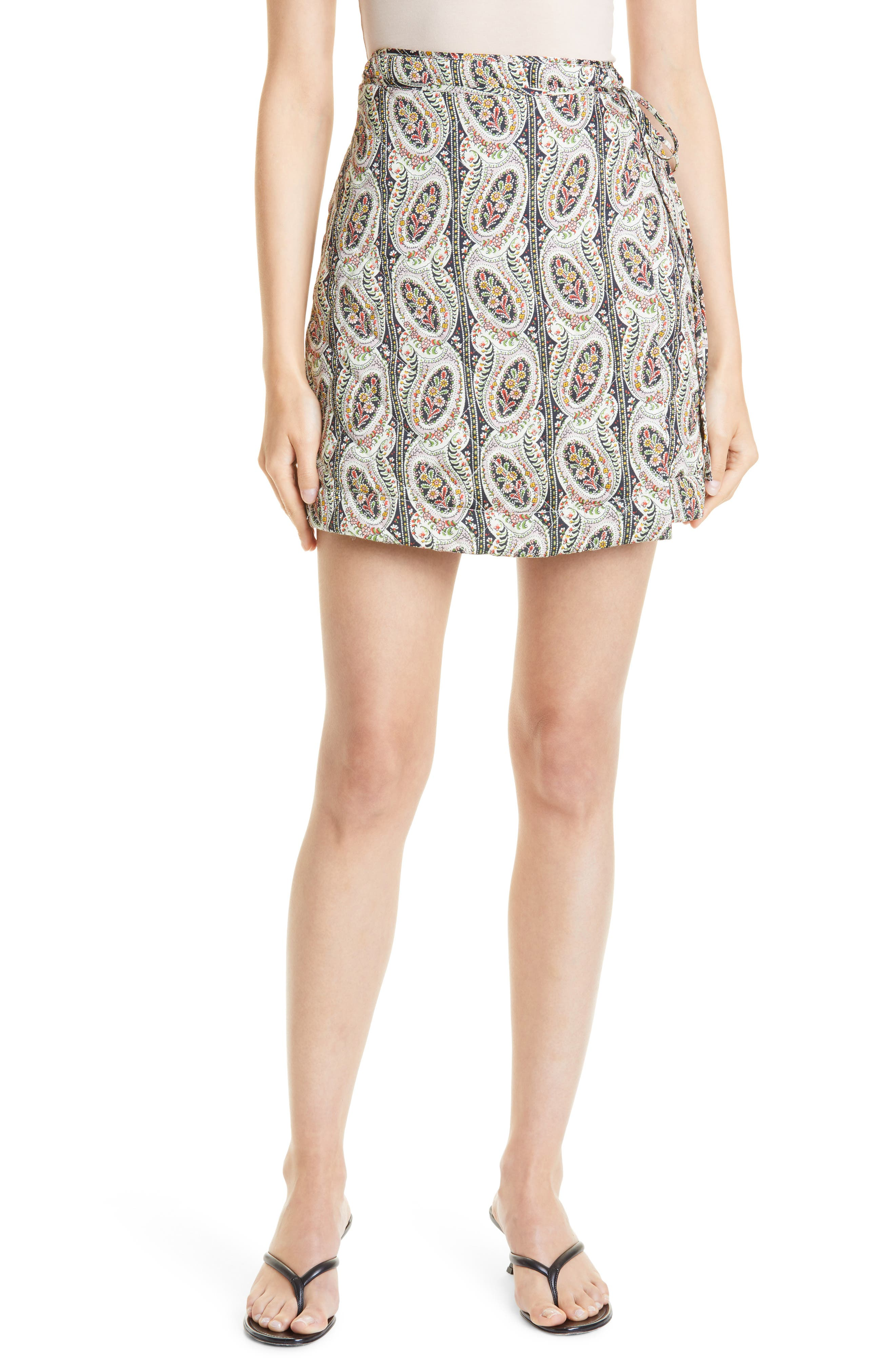 Autumn Paisley Print Wrap Skirt