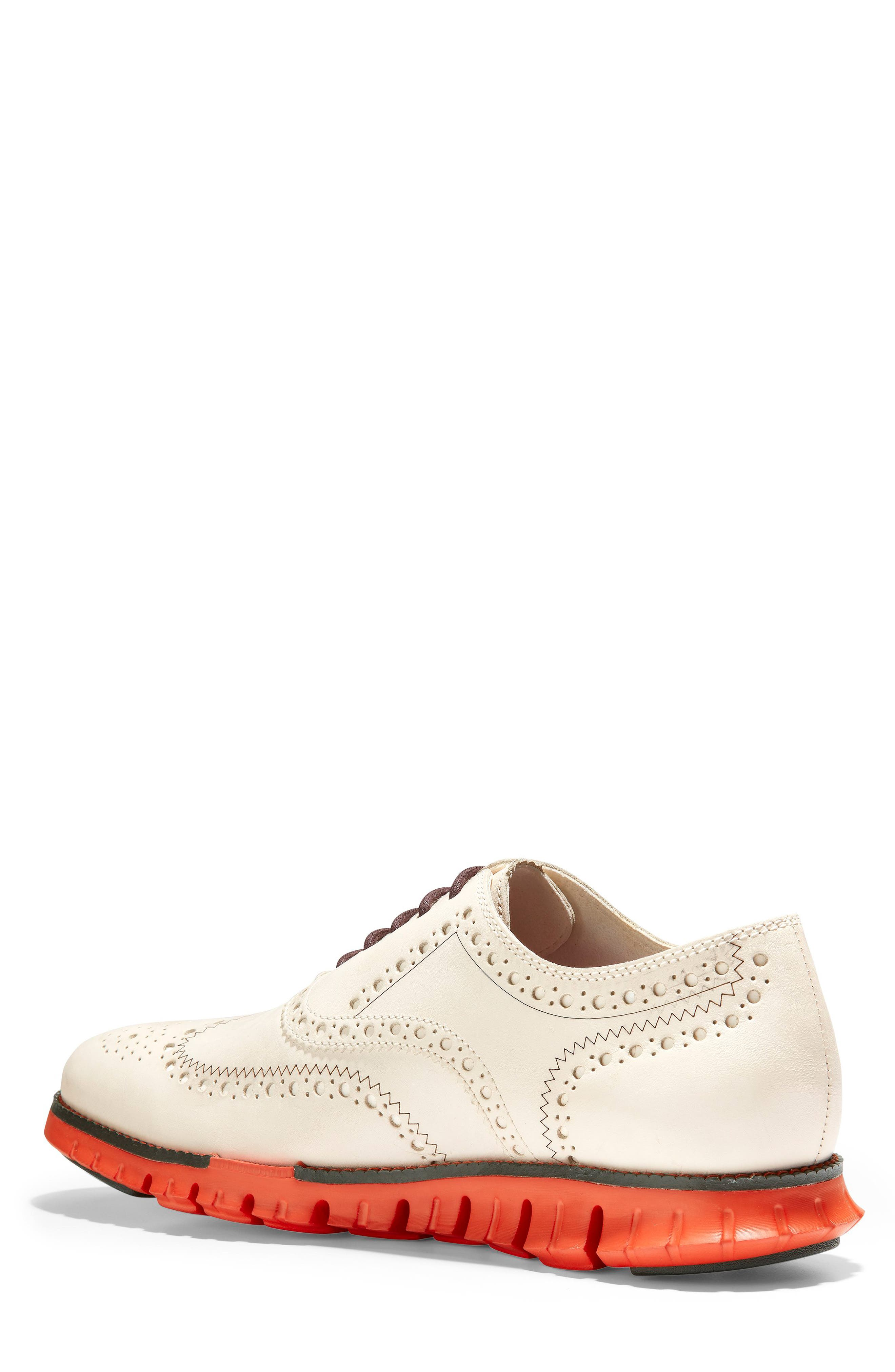 ,                             'ZeroGrand' Wingtip Oxford,                             Alternate thumbnail 2, color,                             IVORY LEATHER/ DARK ROAST