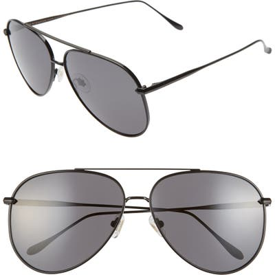 Diff Nala 6m Oversize Aviator Sunglasses - Black/ Grey