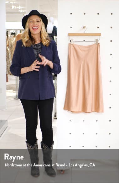 Marta Silk Satin Midi Skirt, sales video thumbnail
