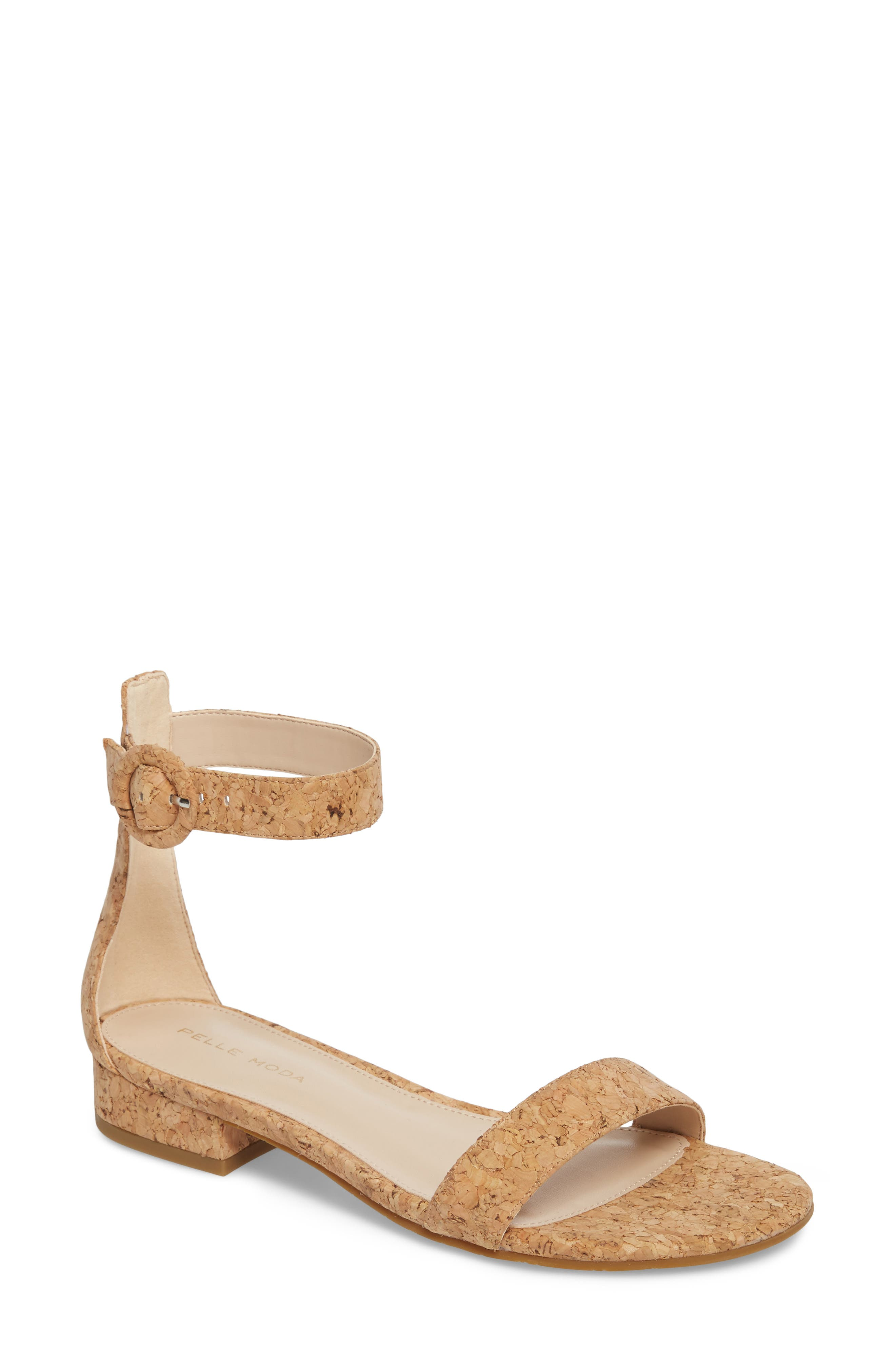 A minimalist flat sandal with a flexible sole is styled with a slim ankle strap anchored by a covered ring buckle. Style Name: Pelle Moda Newport Sandal (Women). Style Number: 5479929. Available in stores.
