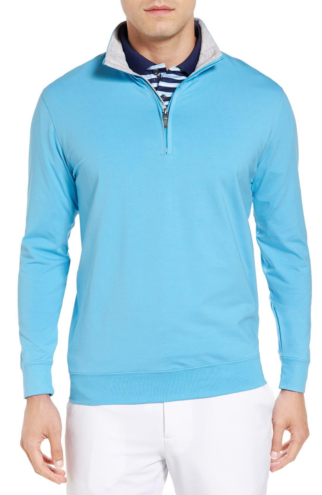 ,                             PTO Liquid Stretch Quarter Zip Pullover,                             Main thumbnail 41, color,                             402