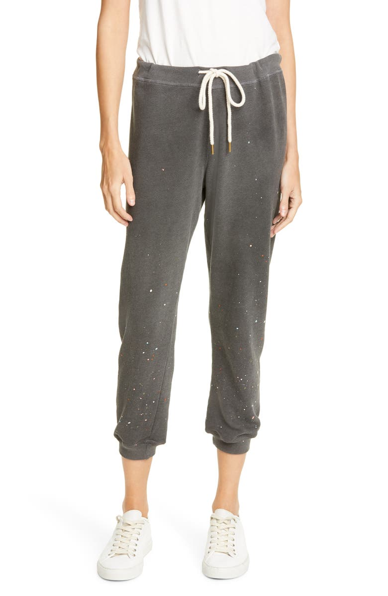 THE GREAT. The Cropped Sweatpants, Main, color, 002