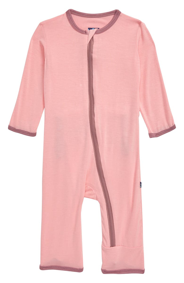 KICKEE PANTS Embroidered Whale Jersey Flap Romper, Main, color, 650