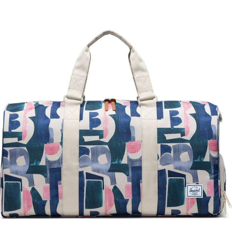HERSCHEL SUPPLY CO. Novel Duffle Bag, Main, color, ABSTRACT BLOCK