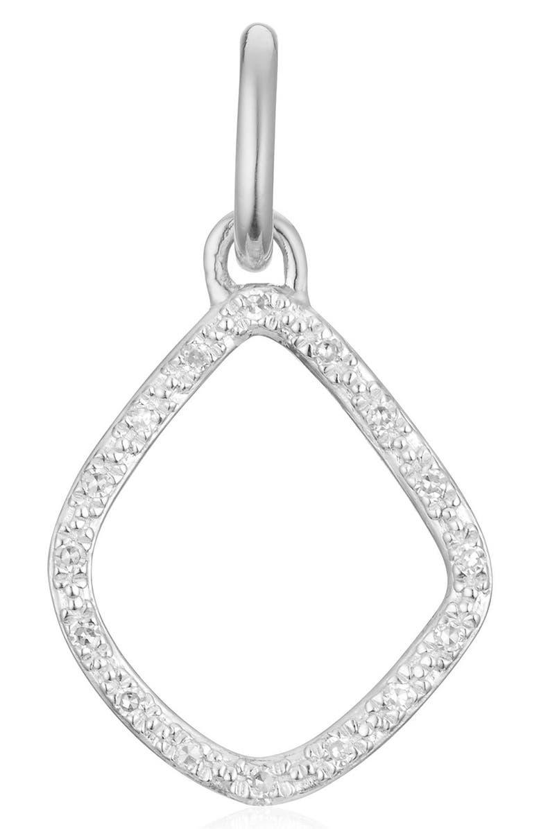 MONICA VINADER Riva Diamond Kite Pendant Charm, Main, color, SILVER