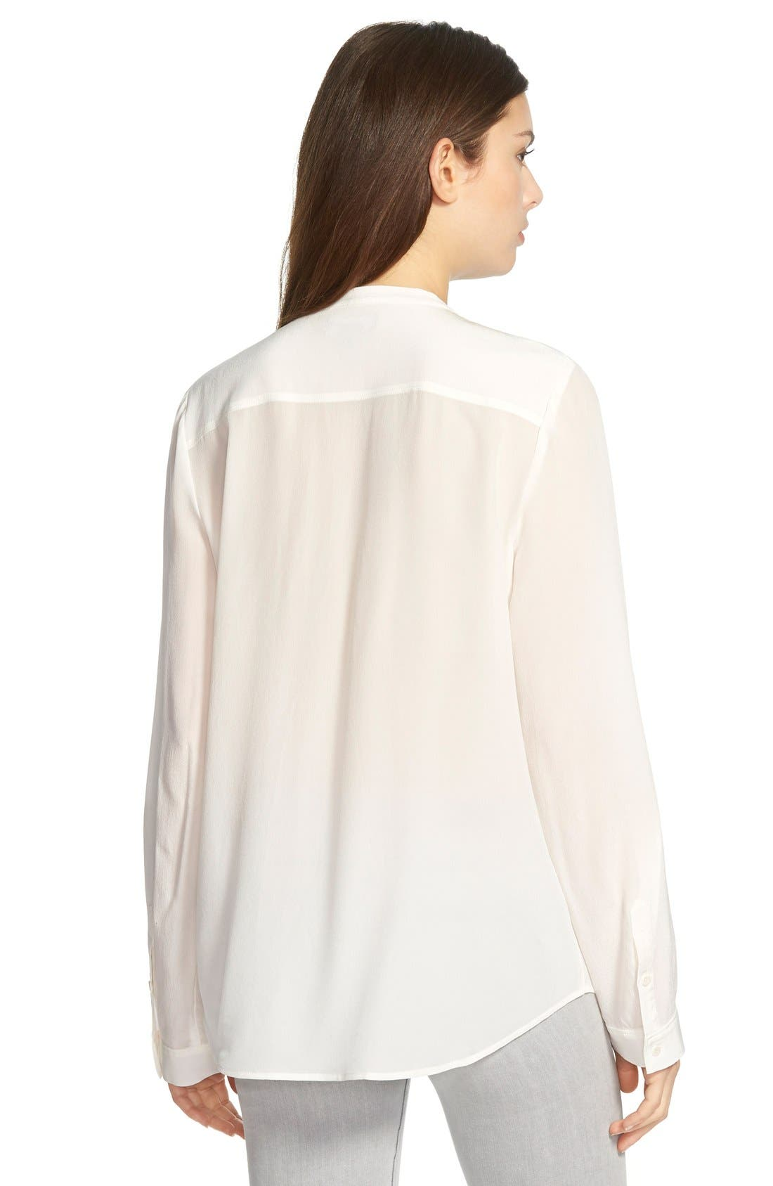 ,                             Collarless Silk Blouse,                             Alternate thumbnail 27, color,                             101