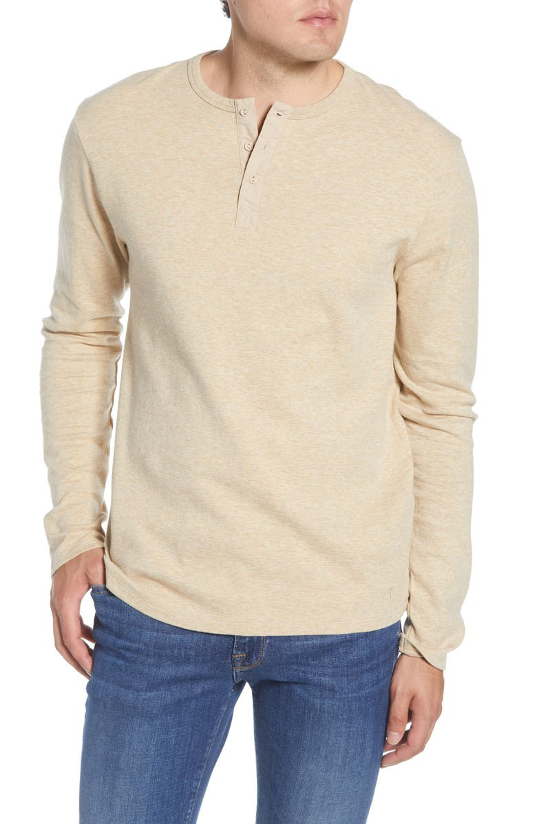 FRAME Classic Fit Long Sleeve Henley, Main, color, PRAIRIE