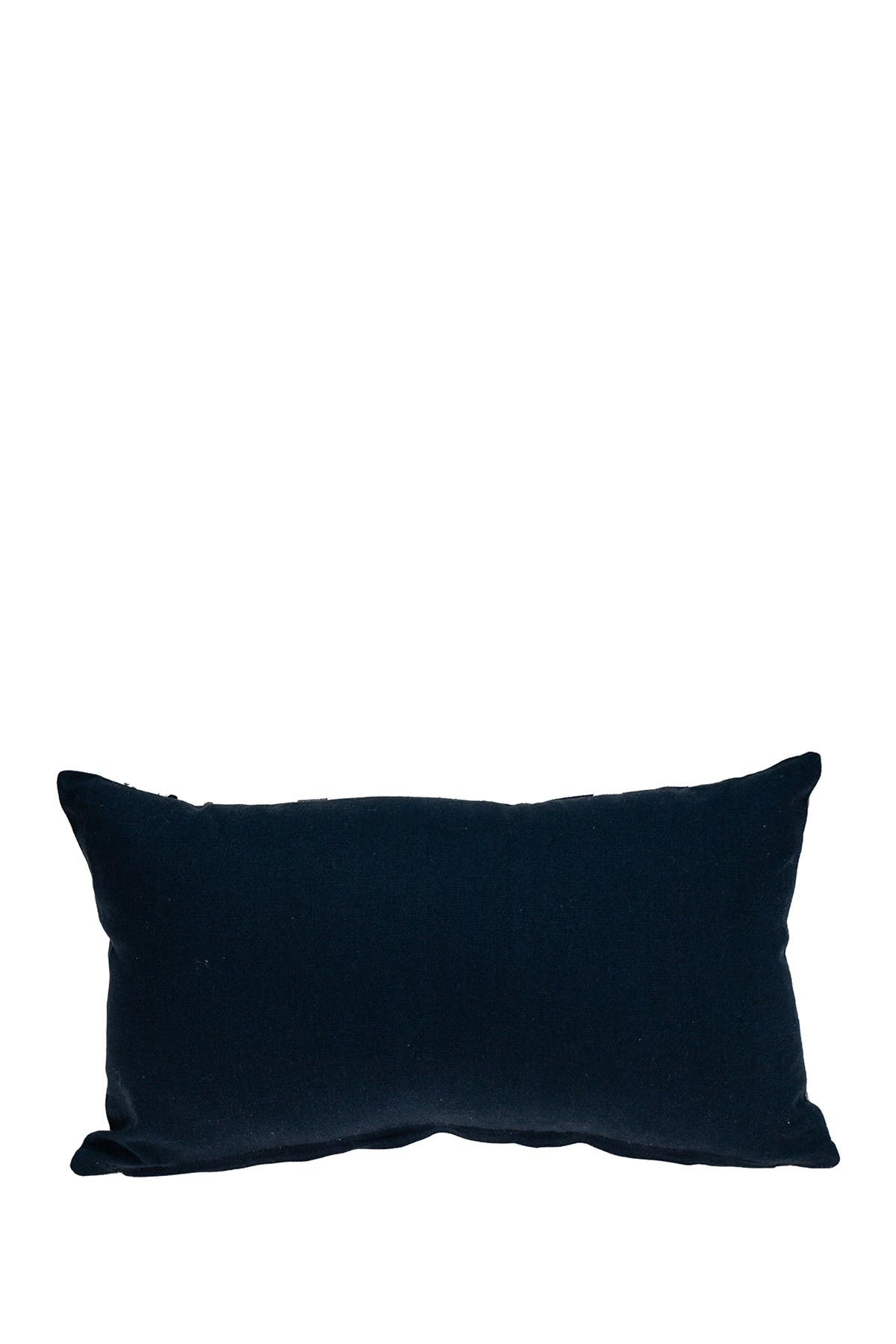 Image of Parkland Collection Sapphire Transitional Blue Throw Pillow