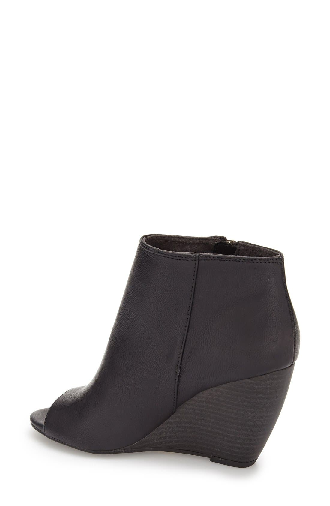 ,                             'Rebellion' Peep Toe Wedge Bootie,                             Alternate thumbnail 2, color,                             001