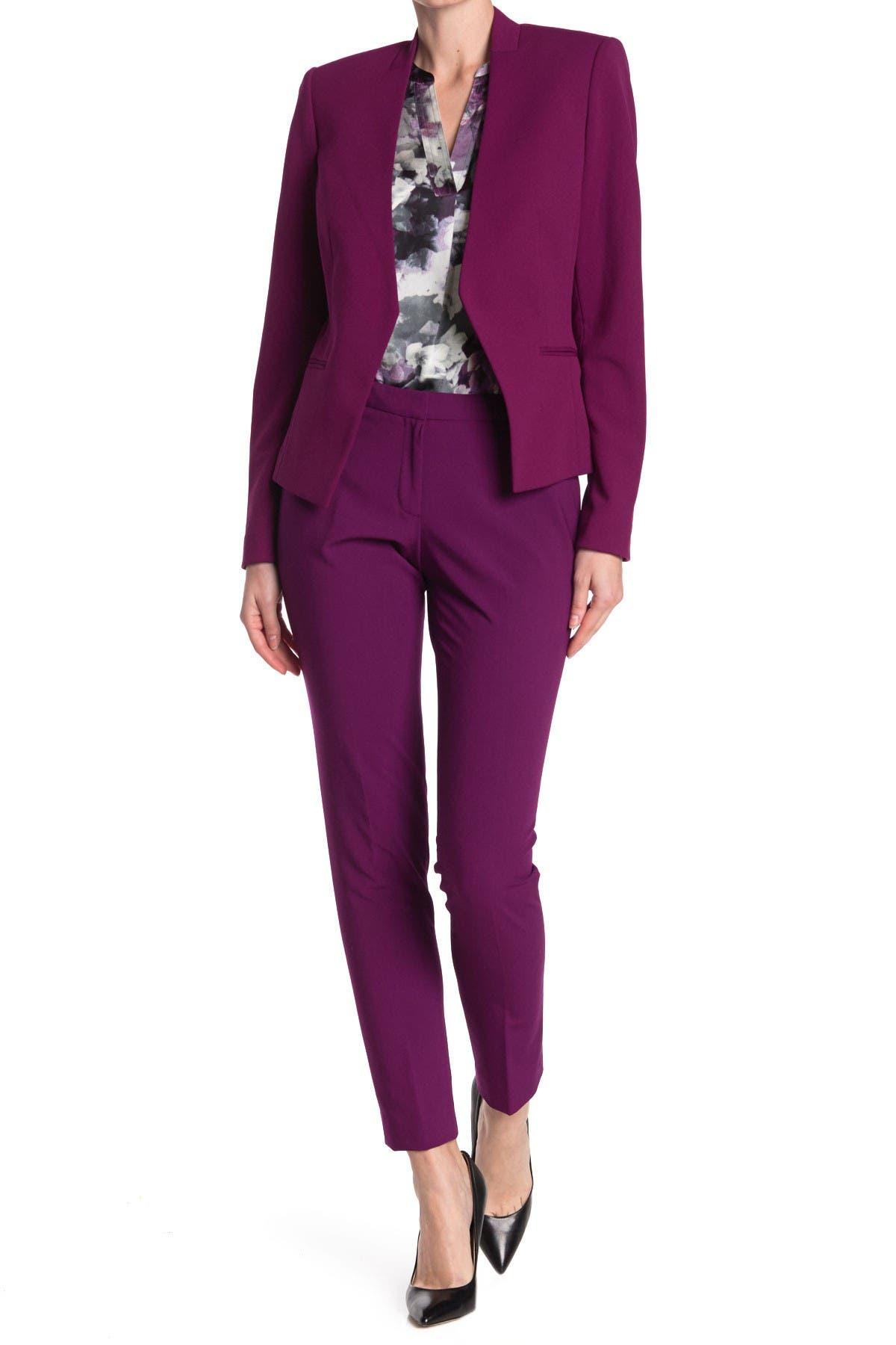 Image of Calvin Klein Mid Rise Slim Leg Pants