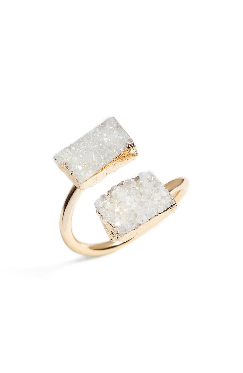ELISE M. Jessa Drusy Quartz Adjustable Ring, Main, color, 250