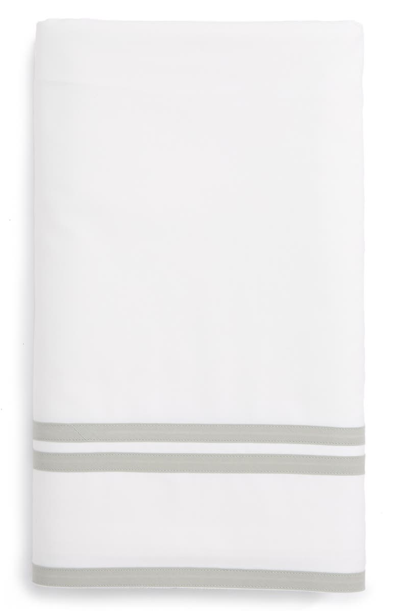 MATOUK Meridian Flat Sheet, Main, color, SILVER