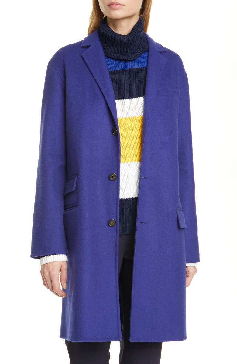POLO RALPH LAUREN Perry Double Face Wool Blend Coat, Main, color, FALL ROYAL