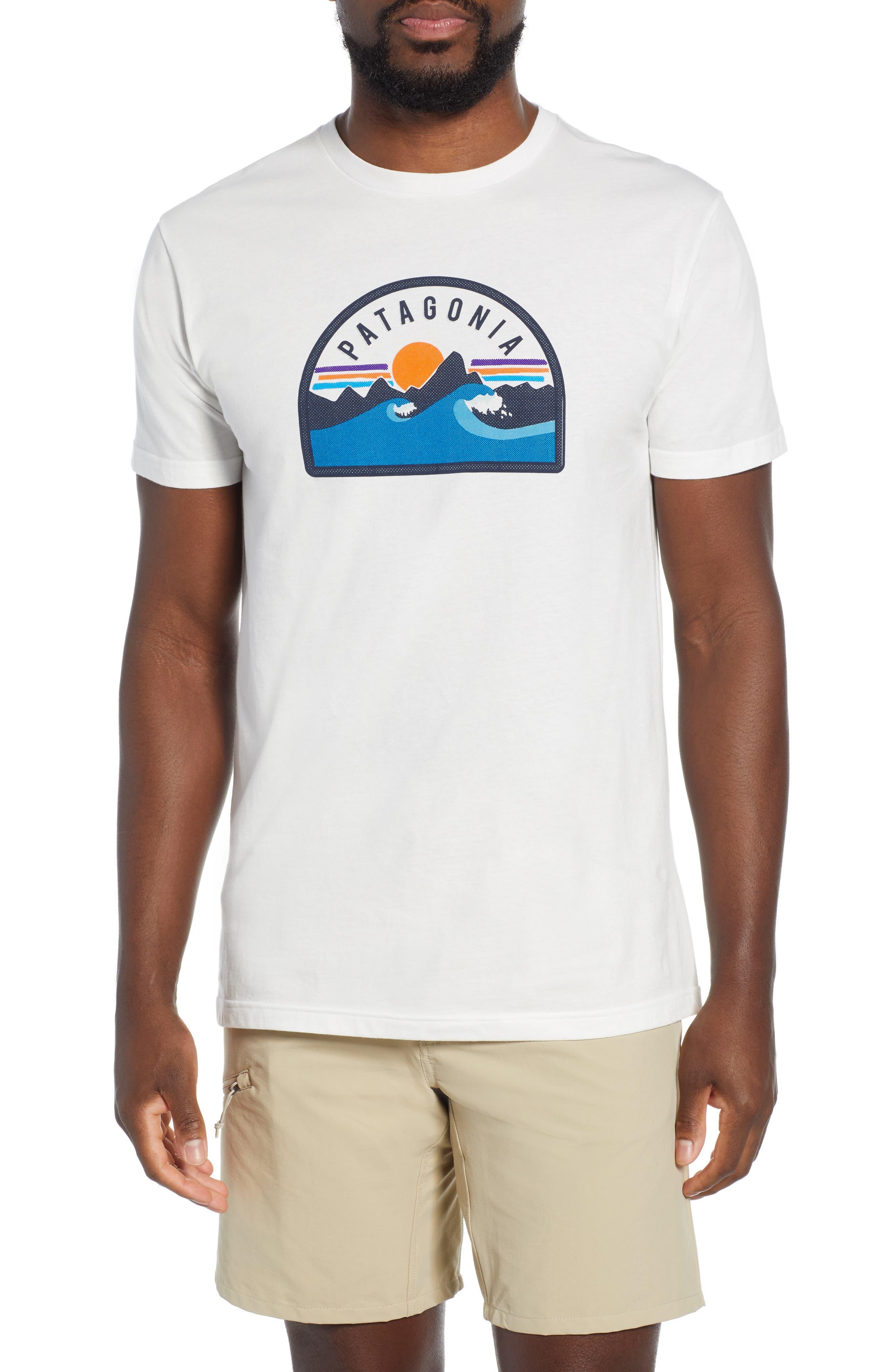 Patagonia Boardie Badge Organic Cotton T-Shirt, White
