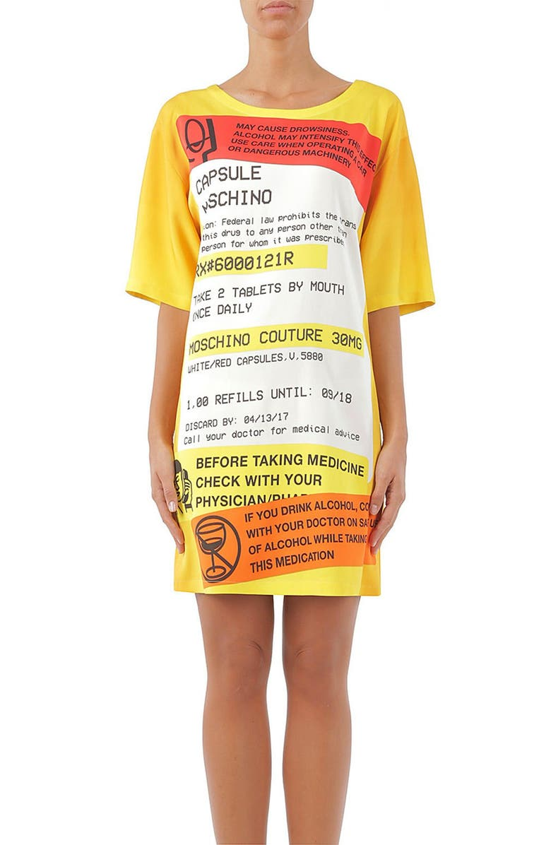 MOSCHINO Capsule Print Dress, Main, color, 848